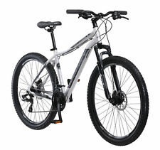 "NEW 27.5"" Schwinn Aluminum Comp Men's Mountain Bike Silver 21 Speed Shimano"