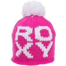 Roxy Let Loose Fleece Lined Bobble Hat Beanie - Pink