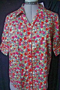 ISIS,Liberty of London.Chemisier blouse passepoil coton tana Lawn Picardie.T40.