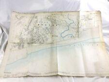 1898 Antique Map of Bognor Regis West Sussex Rare Hand Coloured Large
