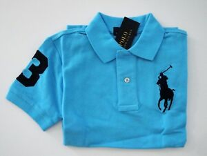 NWT Ralph Lauren Boys SS Big Pony Classic Solid Mesh Polo Shirt 2/2t 3/3t 4t NEW