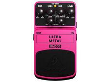 Behringer UM300 Effetto Ultra Metal per rock metal a pedale per chitarra e basso