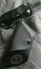 Ray Ban 4087 Sports Shield Black Sunglasses With Case Made In Italy