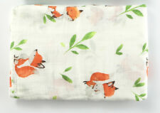 """Muslin Swaddle Blankets Fox Infant Receiving Blanket Soft Bamboo 47x47"""""""
