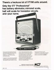 1967 B&K Model 171 VTVM Transistor Tester Vtg Print Ad