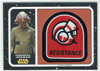 Star Wars Journey To The Last Jedi Galactic Emblem Patch MP-AA Admiral Ackbar