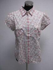 Peppercorn Kurzarm Bluse Hemd weiß rot Gr. L NEU (Z16)