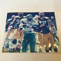 Emmitt Smith Signed Autographed 8x10 Photo Dallas Cowboys PSA DNA COA