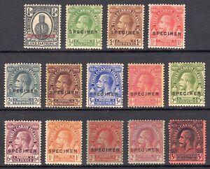 "TURKS AND CAICOS ISLANDS 1922-6 KGV ""Postage"" SPECIMEN set, SG162s-175s cat £250"
