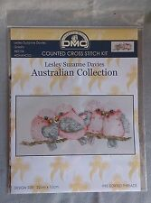 Galahs cross stitch by Lesley Davies - DMC Australian Collection 22 x 10cm 16ct