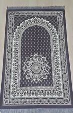 Prayer Rug-CARPET-Turkish Islamic Mat JaNamaz Salat sajadah Purple TAFFETA+bead