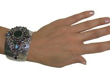 Ottoman Style Cuff Bracelet Harem Sultan High Quality Fashion Jewelry Green
