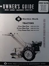 Montgomery Ward Garden Mark Chor Plow Power Trac Tractor Owner Amp Parts Manual Mw