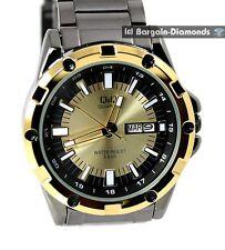 mens gold gunmetal calendar sports clubbing business watch designer bracelet