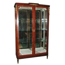 French Empire Cabinet with Glass Doors #5650
