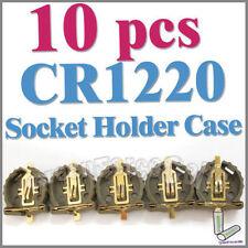 10 x Battery Button Cell Socket Holder Case CR1220 1220