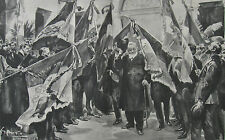 1900 Large Photogravure - Paul Kruger in exile in Marseilles  (Second Boer War)