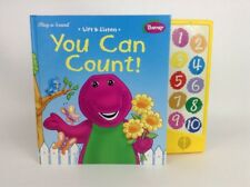 Vintage 90's Barney You Can Count Play & Sound Lift Learn Hard Cover w Batteries