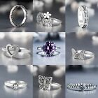 Brand Design 925 Silver Rings Wedding Engagement Hot Gift Jewelry US size 5-9