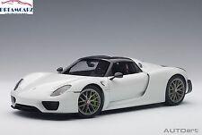 AUTOart 77926 1:18 Porsche 918 Spyder Weissach Package - Glossy White