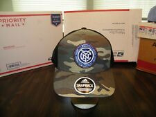 NEW YORK CITY FC ADIDAS SNAPBACK CAMO TRUCKER CAP HAT OFFICIAL MLS NWT