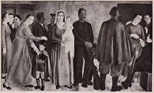 D4918 Franco Girosi - L'offerta della fede - Stampa d'epoca - 1938 vintage print