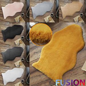 Faux Rabbit Fur Rug Soft Floor Mat Living Room Bedroom Shaggy Cosy Carpet Rugs