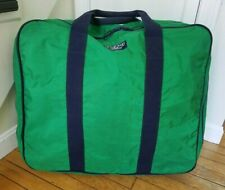 "Vtg Lands End Lighthouse XL Lined Duffle Bag Tote Boating Nylon USA 24"" x 20"""