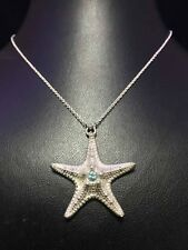 Star Pendant 925 Sterling Silver Necklace Chain Women Jewellery Valentine's gift