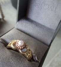 Superb Clogau Welsh 9ct Yellow & Rose Gold  Freshwater Pearl Ring  - Size O