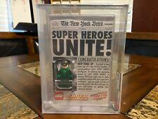 LEGO DC GREEN LANTERN MINI FIGURE 2012 NYCC NEW YORK COMIC CON AFA 9.25 SDCC