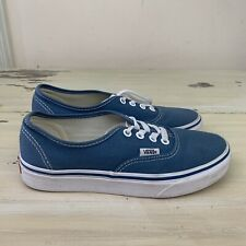 VANS AUTHENTIC - Youth Blue Lace Up Canvas Casual Shoes, Boys 4.5 Womens 6