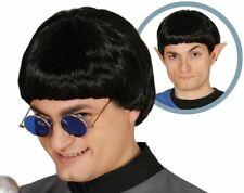 60s Beatles Stile Bacino Ciotola taglio Parrucca Lennon McCartney anni 1960 Nero Costume