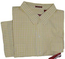 IZOD Men's Button-Down Casual Slim Fit SS Shirt Buttercup Size XL
