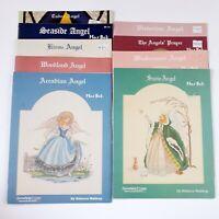 Lot of 9 Mar Bek Angel Cross Stitch Pattern Booklets Serendipity Designs Vintage