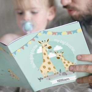 Personalised Big Brother Story Book Gift Idea for New Siblings New Baby Boy