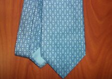 Hermes Paris Geometric Print 100% Pure Silk Hand Made Long Tie ~France~