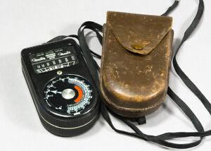 Weston Master Model 715 Universal Exposure Light Meter in Leather Case
