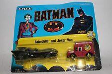 ERTL DC Comics Super Hero Figures, Batmobile and Joker Van