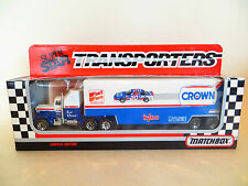 MATCHBOX CONVOY Kenworth Racing Team Transporter CROWN - OLDSMOBILE. MIB/ BOXED