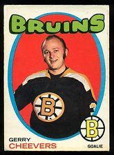 1971 72 OPC O PEE CHEE #54 GERRY CHEEVERS EX COND BOSTON BRUINS HOCKEY CARD
