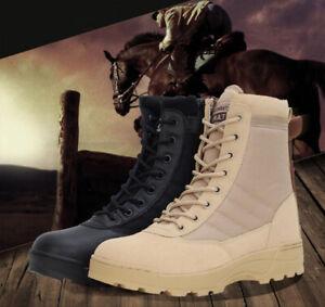 Anfibi Uomo Scarpe Tattico Militare Desert Caviglia Stivali Stivaletti Scarponi