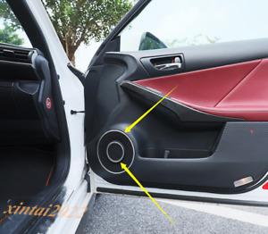 8PCS Silver Inner Door Audio Speaker Ring Trim For LEXUS IS200T 250 300 2013-19