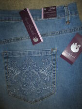 GLORIA VANDERBILT Amanda Skimmer Studs Ultra Stretch Denim Jean Size 24W New $50