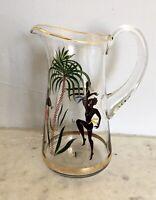 Ancien pichet carafe broc verre VINTAGE 1950 Jazz VILLEROY BOCH