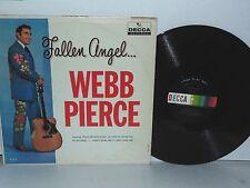 WEBB PIERCE Fallen Angel Vinyl LP 1961 Decca Records Mono Country Plays Well VG+
