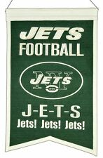 New York Jets Wool Franchise Banner (New) Nfl Man Cave Sign Wall Flag