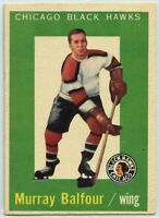 1959-60 Topps Hockey #33 Murray Balfour RC VG-EX Condition (2020-13)