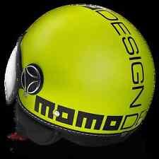 Casco MOMO Design Fgtr Giallo Fluo Taglia M
