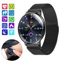 Herren Smartwatch Pulsuhr Blutdruck Monitor Sportuhr für Samsung Huawei P40 P30